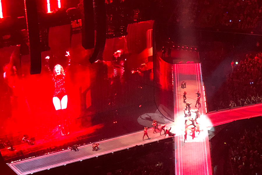 Flanked by huge video monitors bearing her image, Taylor Swift dazzled the crowd at AT&T Stadium Friday and Saturday night for the lastest stops on her Reputation Stadium Tour.