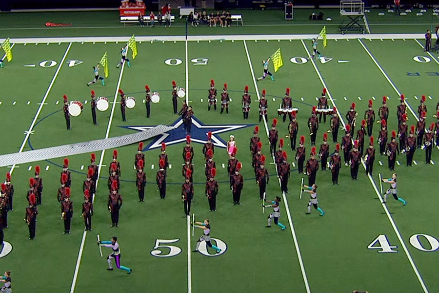 Performing inside at the Ford Center is one of the few times the marching band has been able to stay dry as rain has been a factor at several of this year's football games. However, on Saturday they will be performing outside at the UIL Marching Band Showcase in Plano.