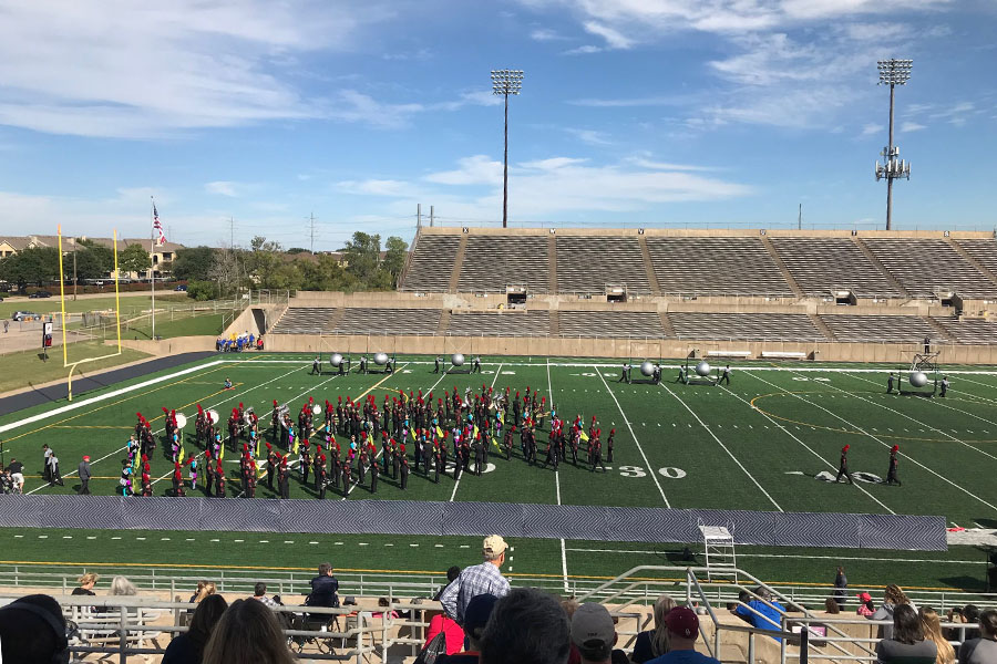 Confronted with multiple rained out football games and difficult choreography, band had its last chance to impress at the UIL marching band competition on Saturday.