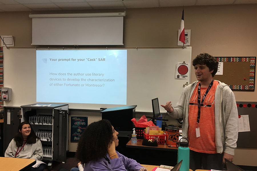 English teacher David Barr looks forward to year of building relationships with students through English.