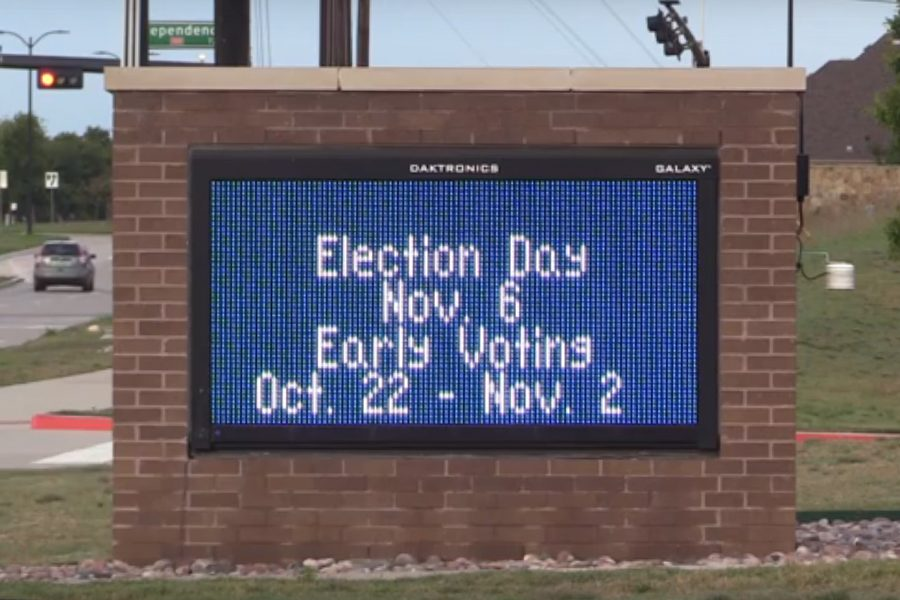Early voting in Texas began on Monday at 8:00 a.m. and continues through Friday, Nov. 2. Voters can cast their ballots at any location in the county in which they live during early voting but must vote at their designated polling place on Election Day.
