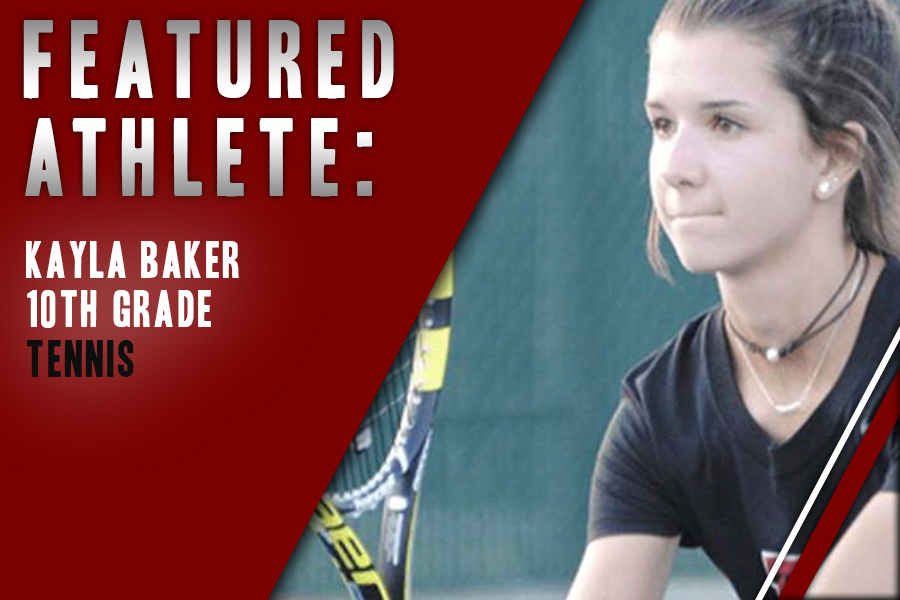Starting as a child, sophomore Kayla Baker finds her passion in tennis as she found her fit on the Redhawk tennis team.