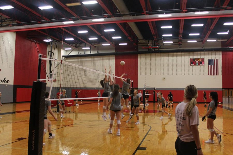 The volleyball team starts round 2 of playoffs against Reedy high school Saturday. The team was unable to keep up with the Lions as they fell short 3-0.