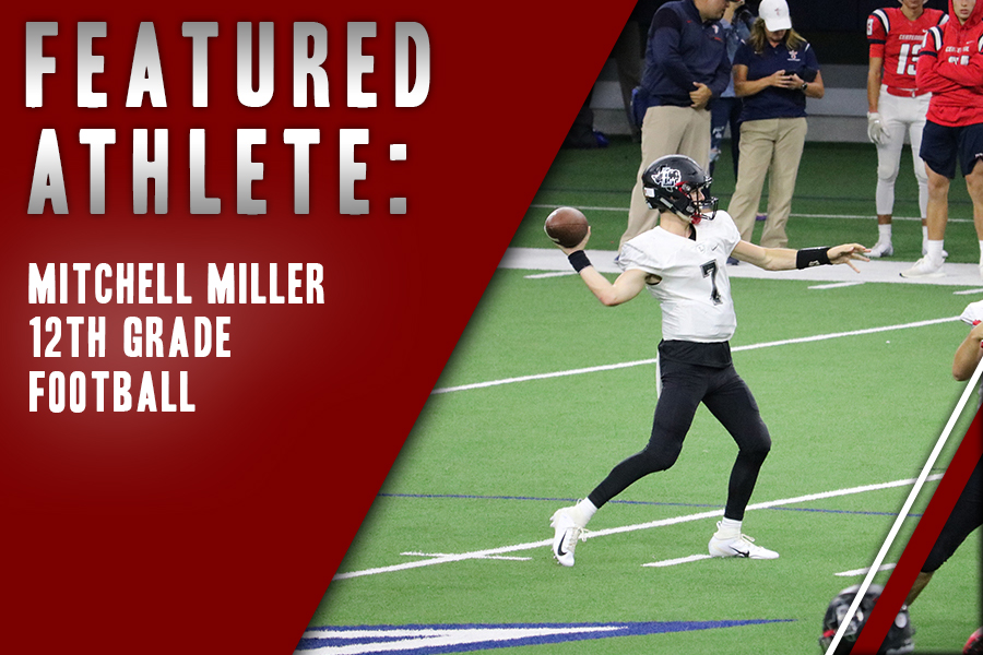 Having grown up playing the game, senior Mitchell Miller found his place on the football team as he feels the sport comes naturally to him.