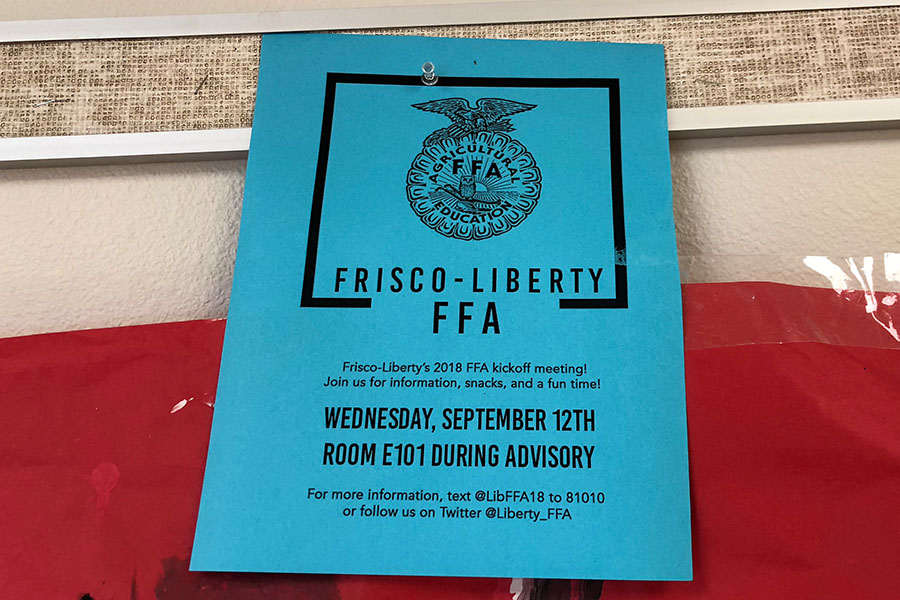 Outdated FFA flyers stand out on campus featuring information of past events. However, this is one of many to be  left up days or even weeks after an event.