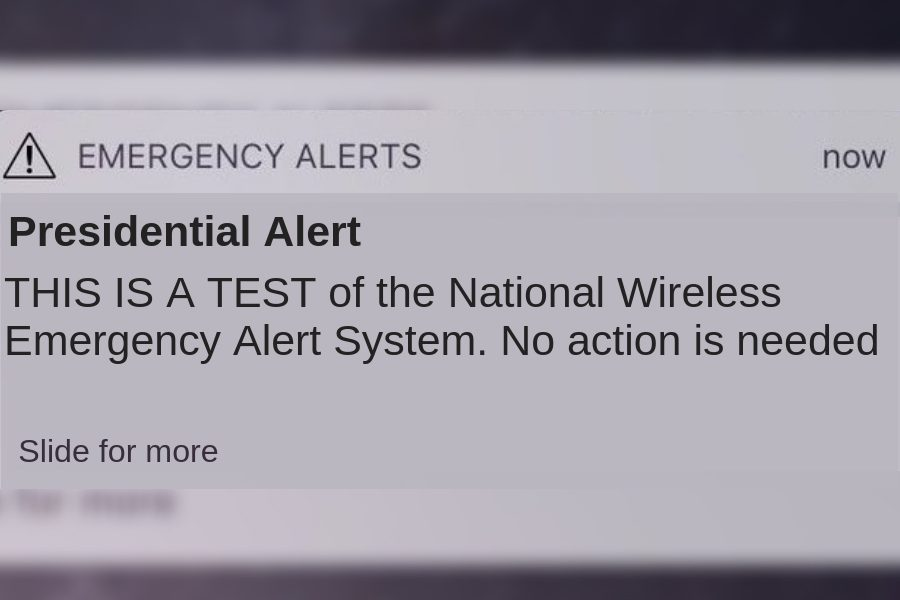 Phones across the country received an emergency alert on Wednesday in the first nationwide test of the Wireless Emergency Alert system test.