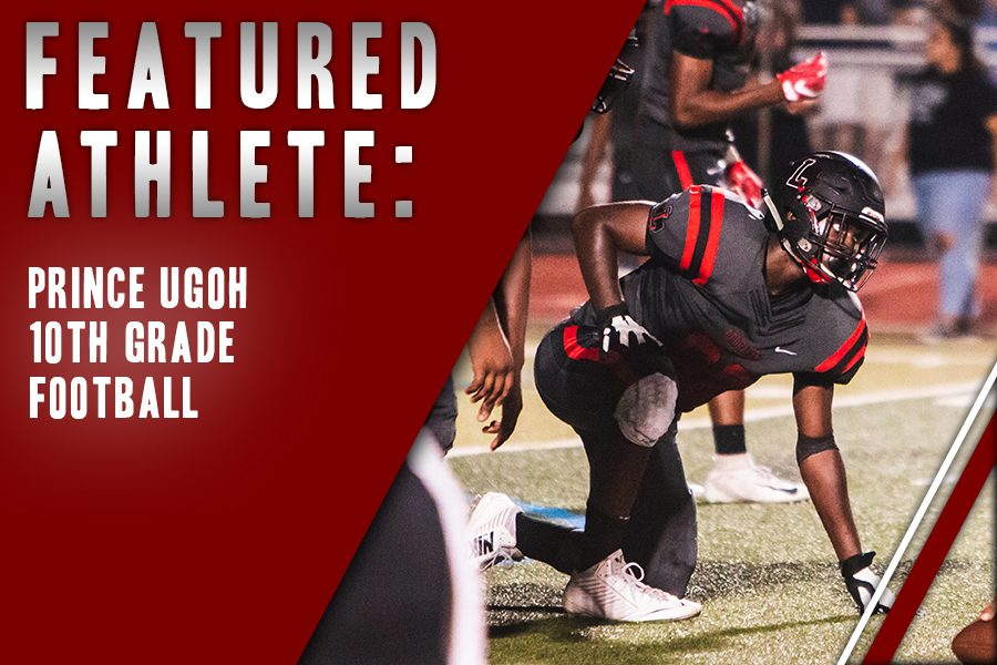 In+his+fourth+year+of+playing+football%2C+sophomore+Prince+Ugoh+makes+his+mark+on+the+varsity+team+playing+tackle+and+defensive+end.+For+Ugoh%2C+the+friends+he%27s+made+in+the+sport+is+what+drives+his+passion.