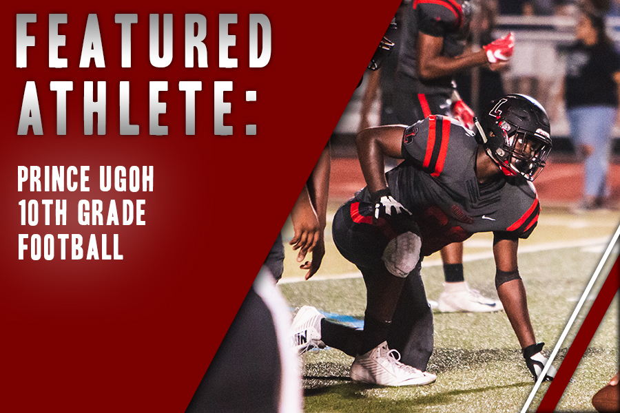 In his fourth year of playing football, sophomore Prince Ugoh makes his mark on the varsity team playing tackle and defensive end. For Ugoh, the friends he's made in the sport is what drives his passion.