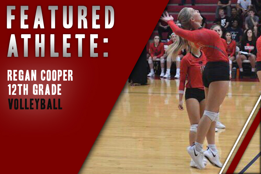 Having played for eight years, senior Regan Cooper fuels her competitive nature by playing volleyball and growing through team cooperation.