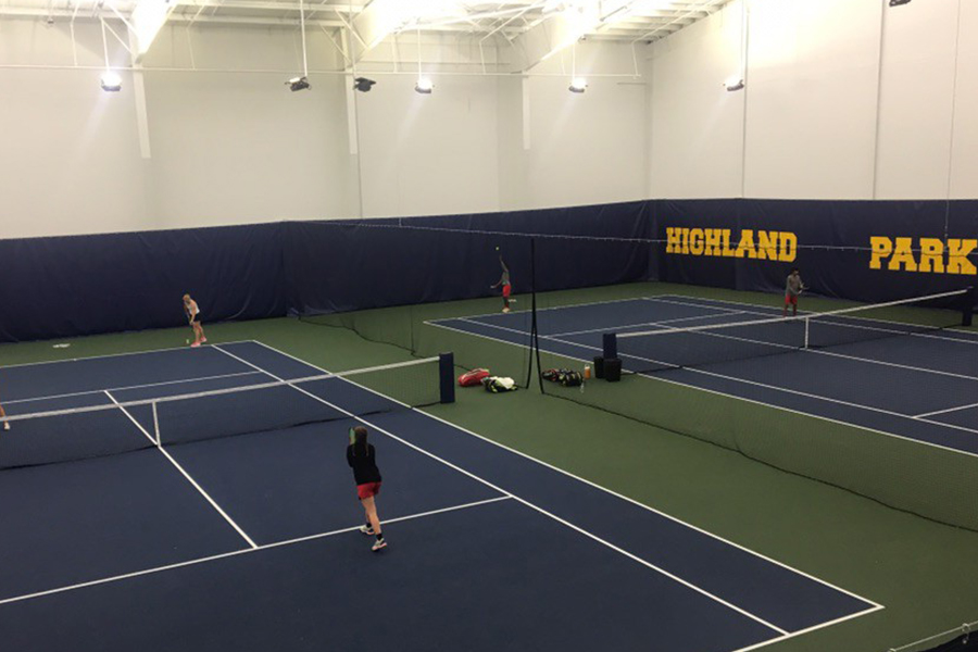 A Friday full of rain led the Redhawks second round team tennis playoff match against Highland Park to be played inside at the home of the Scots. After defeating McKinney North 10-4 in the first round, the Redhawks lost 10-0 to the defending state champion on Oct. 19, 2018.