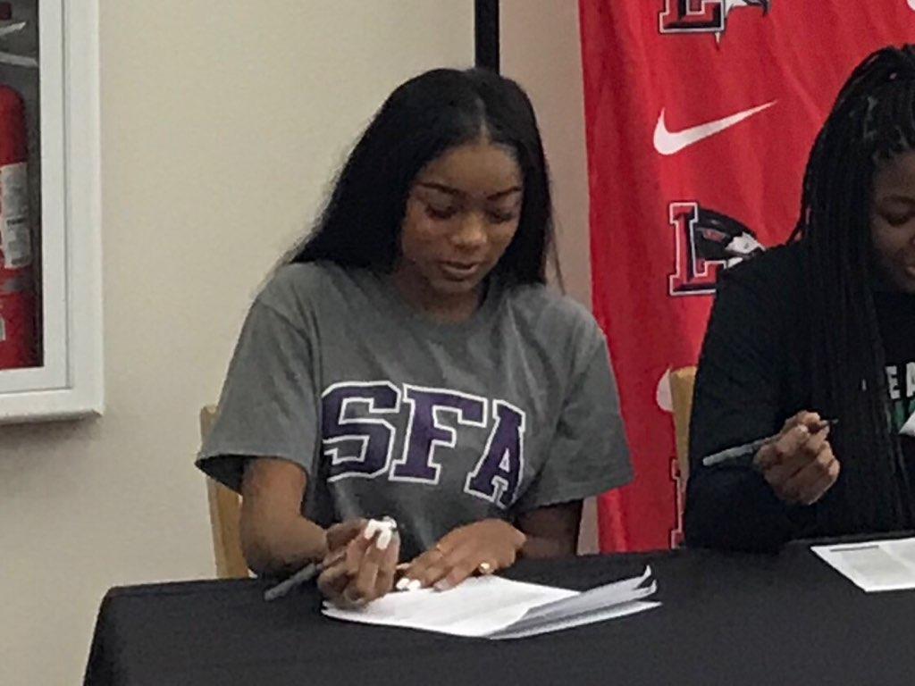 Senior Nissi Kabongo signed to run track at Stephen F. Austin University.