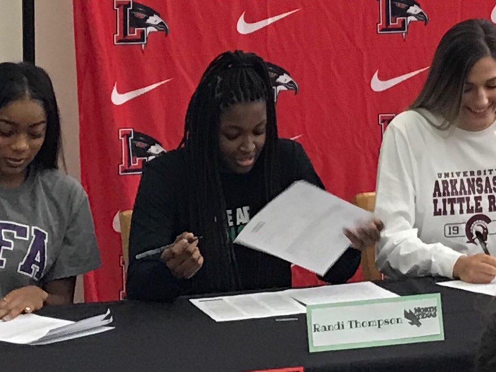 Senior Randi Thompson signed to play girls' basketball at the University of North Texas.