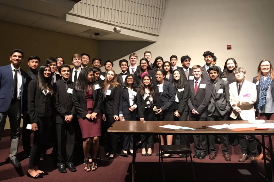 Saturday marked the last competition for Youth and Government students before the upcoming State Conference in January. The Redhawks had record participation and awards, with 80 students from their Plano Family YMCA delegation in attendance.