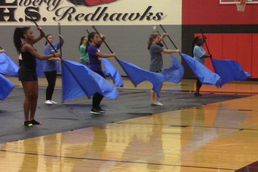 As Temperatures Drop Color Guard Warms Up For New Season Wingspan