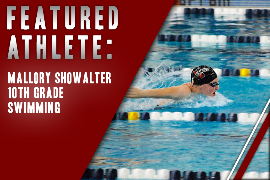 Breaking the 50 yard freestyle record, sophomore Mallory Showalter has participated in swimming since age eight.
