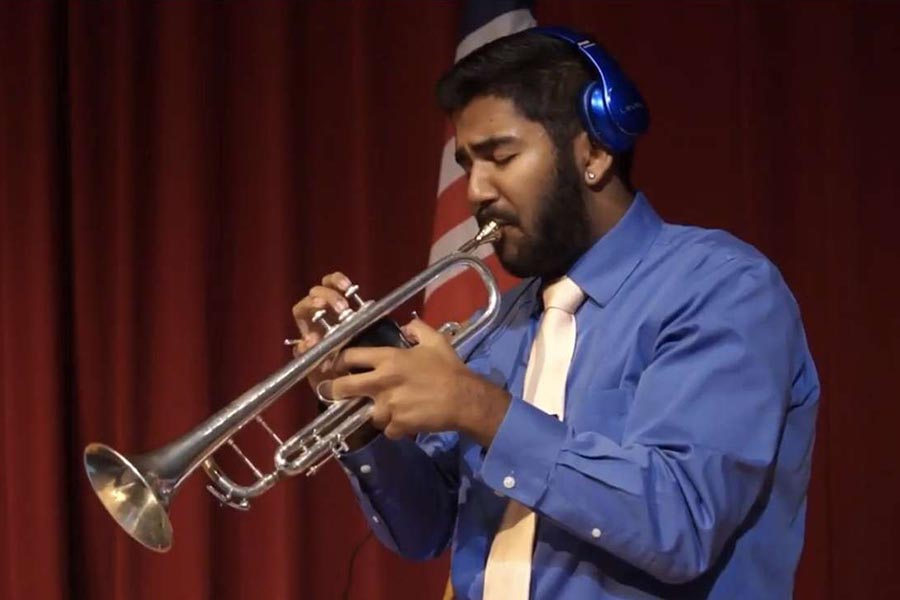 As+the+only+student+on+campus+to+be+accepted+into+the+Jazz+Band+of+America%2C+senior+Sid+Sadhu+will+pursue+his+passion+for+jazz.+Opening+up+new+opportunities+college+wise%2C+Sadhu+gets+his+foot+in+the+door+in+the+world+of+music.