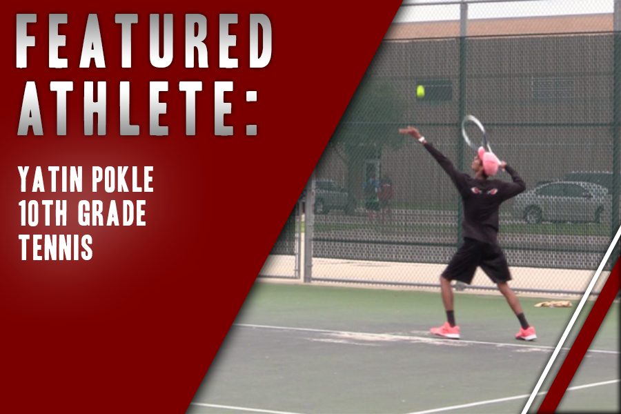 Sophomore Yatin Pokle has been playing tennis since 3rd grade. He hopes on improving his backhand.