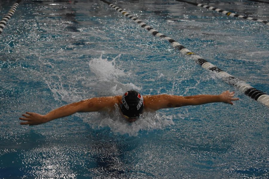 With multiple athletes being out due to a variety of injuries the swim team took on Heritage and Independence. The The boys' were able to out swim both of them, however the girls' fell short.