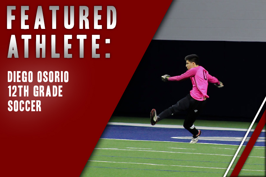 Finishing out his last year of high school, senior Diego Osorio takes his spot as the Redhawk's goalie after playing soccer for over 10 years.
