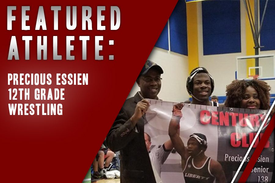 In+his+final+year+of+wrestling%2C+Precious+Essien+is+part+of+the+varsity.+Continuing+the+legacy+of+his+brothers+that+have+wrestled%2C+Essien+reflects+on+his+passion.
