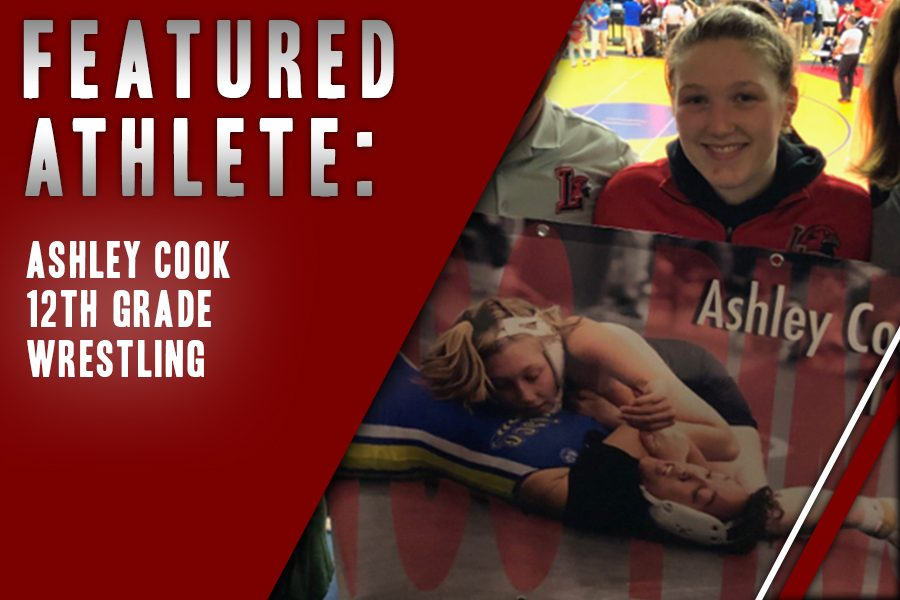 After being inspired in the 8th grade, senior Ashley Cook found her place on the school's wrestling team. Now, she looks at wrestling as a big family that she enjoys being in.