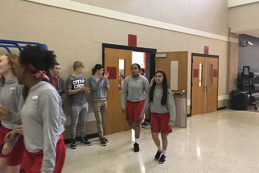The girls' were sent off to San Antonio on Wednesday.