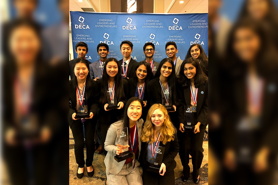 Attending the annual Texas state DECA conference in Dallas over the weekend, members will make their way to nationals held in Orlando in April.