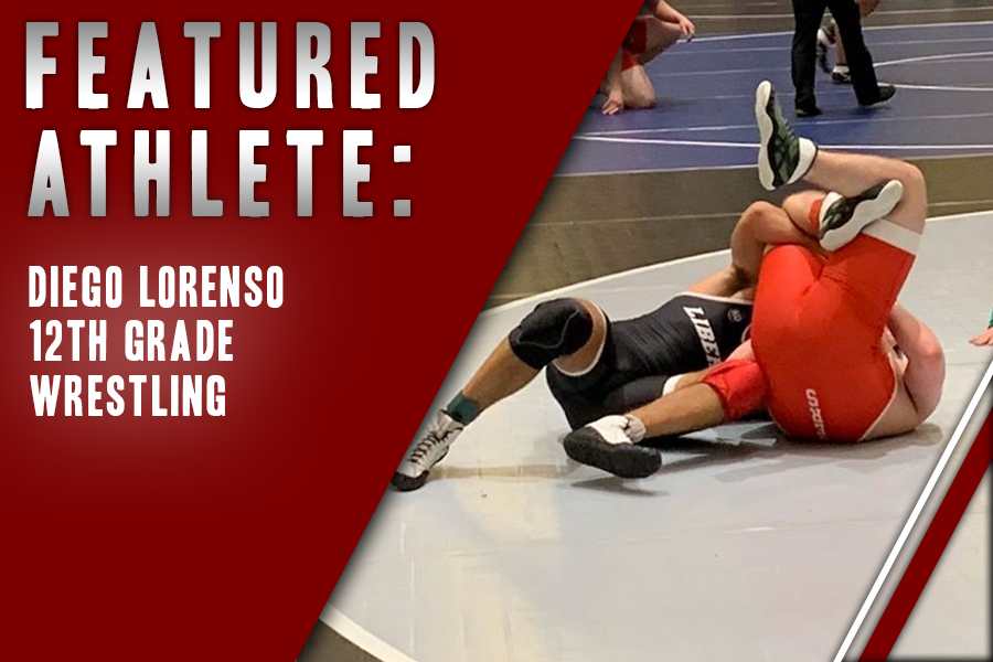 Diego Lorenso pins down an opponent in one of his many wins this season. With his father as his inspiration, Lorenso hopes to make his way back to state in his final year of high school