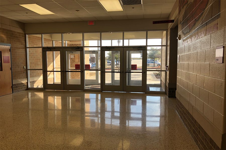 The school has a zero tolerance door policy, meaning that students cannot open or prop doors open. If a student is caught doing this it will result in suspension. This strict rule is to keep all students safe.