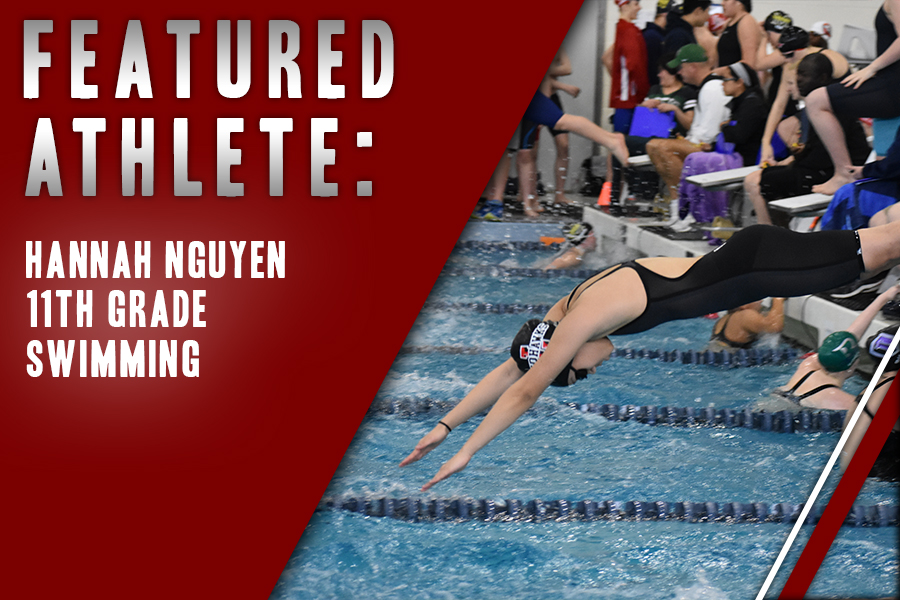 The bond she shares with her teammates has been important to junior Hannah Nguyen in her three years on the team. Nguyen balances practice and classwork as she heads to state as part of girls 200 meter freestyle relay team.