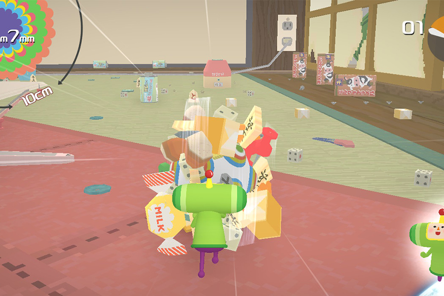 A fully fledged Katamari game is on the market for the Nintendo Switch. The game follows the Prince of All Creation as he rolls up items in his Katamari and allows players to roll up the items and shoot them into space.