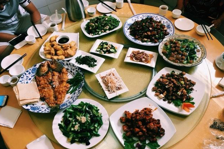 Junior Judy Zhou's dinner table was filled with a variety of Chinese foods to celebrate the Lunar New Year.