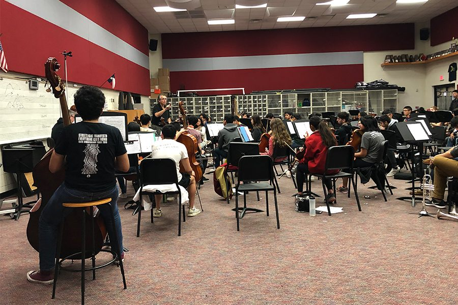 Orchestra+is+switching+things+up.+Instead+of+learning+music+from+their+instruments%2C+they+are+singing+before+class.++This+is+being+done+to+help+the+students%27+hearing+ability.