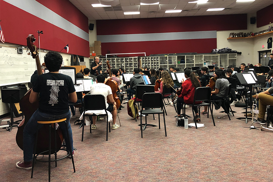 Orchestra is switching things up. Instead of learning music from their instruments, they are singing before class.  This is being done to help the students' hearing ability.