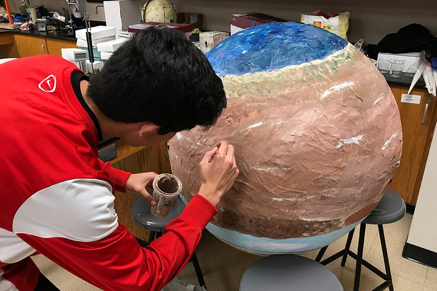 Students in astronomy class created a 1 to 140 million scaled model of the solar system. The planets will be dispersed throughout high schools in Texas such as: Lebanon Trail, Independence, and Sedna.
