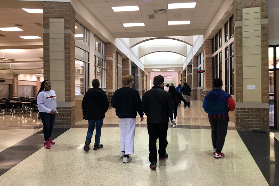 In preparation for the on-level and pre-AP biology evolution and ecology test, students went on a Goose Chase to study the material on the exam. The activity is a fun way of studying that was hung around the halls of the school.