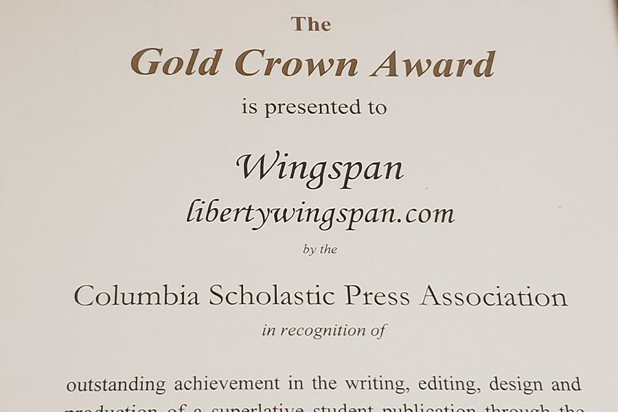 In addition to winning the CSPA Gold Crown this year, Wingspan has received other top honors on the regional, state, and national levels.
