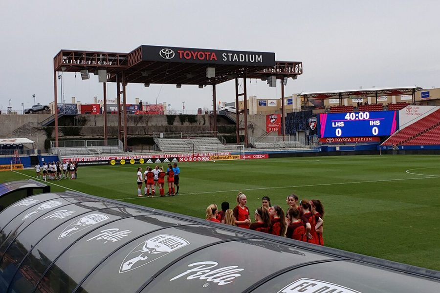 Girls' and boys' soccer will take the field at Toyota Stadium on Friday, March 22 to go head to head against the Lone Star Rangers. With this being the last match in District 9-5A, the girls' will have the chance to secure their spot in playoffs.