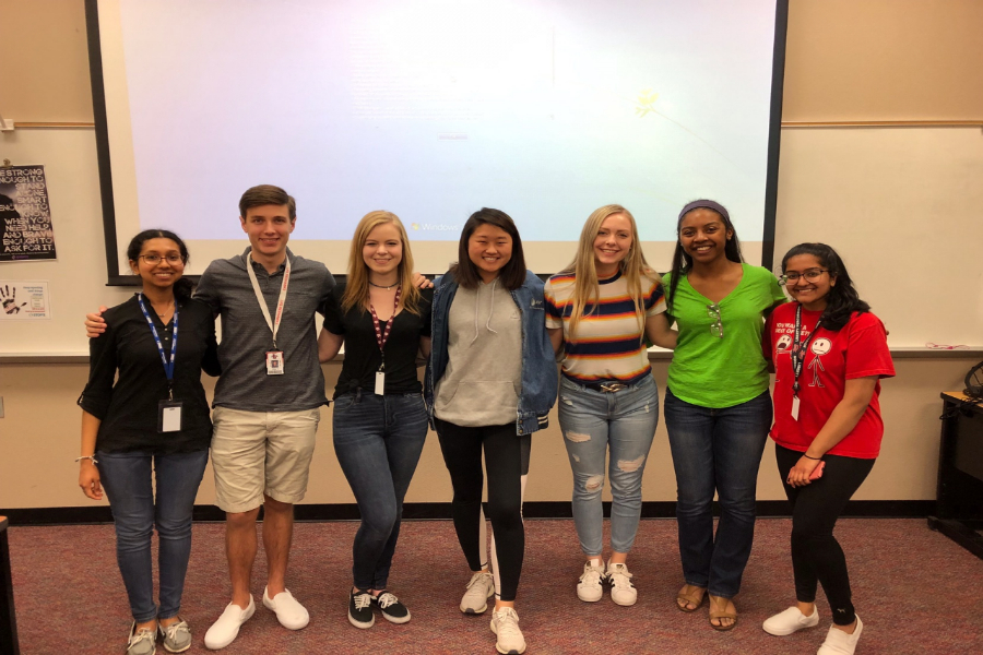 "A group of senior took part in a panel hosted by NHS to inform underclasmen about college. ""I honestly was thinking about myself when I was in that position as a sophomore to junior and how valuable would have been for me to have the opinion of seniors at Liberty High School when I was in the process of like applying for college,"" NHS President, senior, Kennedy Williams said."