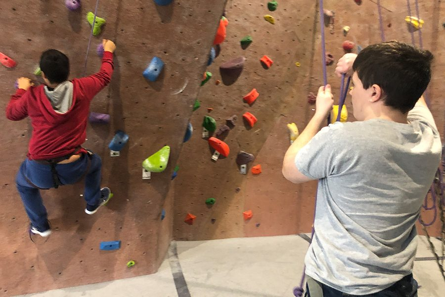 Students in Outdoor Education classes got the chance to explore a new environment from their regular classroom through the rock climbing activity.