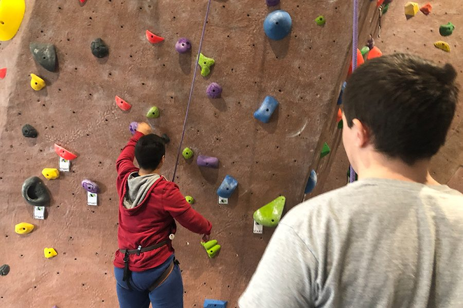 Students were able to take their knowledge outside of the classroom setting as they had the chance to participate in rock climbing.
