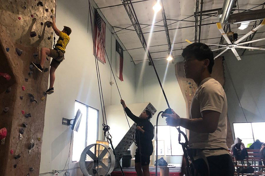 Starting 2 years ago, Outdoor Education students began rock climbing to put what they learn in class into work outside of the classroom.