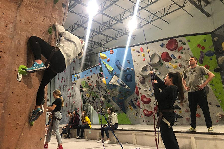 Outdoor Education students traveled to Canyons for a lesson focused on rock climbing.