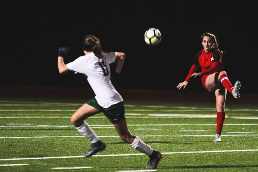 Securing their spot in the District 9-5A playoffs, girls' soccer claiming fourth in the district despite losing on March 8, 2019 against Independence.