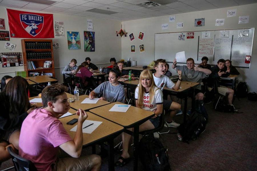 With scholarships on the line, spanish students have the chance to take the National Spanish Exam on Wednesday and Thursday. Aside from the scholarships, spanish teachers also get to collect data on their students' proficiency.