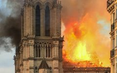 4,000 miles away, Notre Dame fire strikes a chord on campus