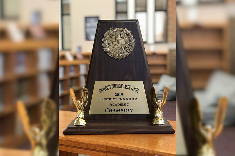 Hosting University Interscholastic League on Saturday, campus took home the 2019 District 9-AAAAA Academic Champion award bringing home over 150 points among the various competitions.