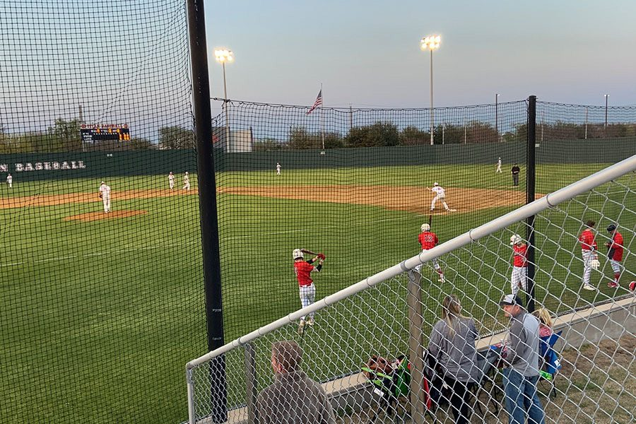 Closing+out+the+season%2C+baseball+played+their+last+district+game+against+the+Heritage+Coyotes.+However%2C+the+Redhawks+fell+to+the+Coyotes+1-0+on+Friday%2C+May+10%2C+2019.