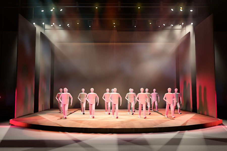 Using a 3D simulation to set the scene and test out lights for upcoming theater productions, junior Kyle Strickland has been nominated from the Dallas Summer Musicals High School Musicals Awards for his extensive work in lighting design and technical theater.
