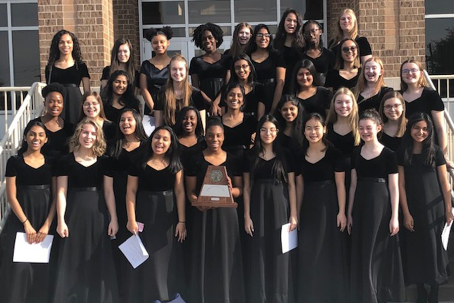 Choir+made+history+as+they+competed+in++UIL+Concert+and+Sightreading+Contest.+Mixed+and+Womens%27+choir+both+got+sweepstakes.+